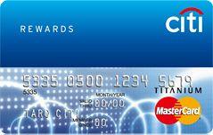 シティリワードカード券面画像